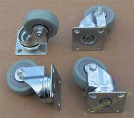 Swivel Castors Rubber Wheels Set of 4 (SC03)
