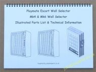 Playmate Escort, Escort MK4 & Escort MK6 Wall Selector Manual JP-ESC