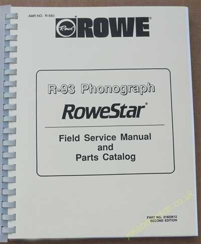 Rowe Ami R-93 Rowestar Manual