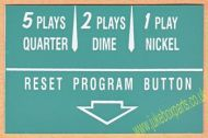 Wurlitzer Instruction Card Green (JP593)