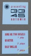 AMI Continental 1 33 45 Automix & Price of Play Cards (JP620)