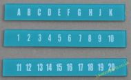 AMI Continental 1 Selection Letters & Numbers Set (JP621)