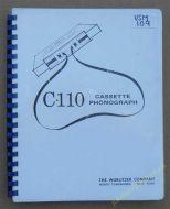 Wurlitzer C-110 Cassette Phonograph Manual (USM109)
