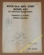Rock-Ola Model 443 Domestic & Export Wirng Diagram (USM261)