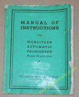 Wurlitzer Models 24 & 24-A Instruction Manual (USM328)