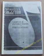 Wurlitzer Model 1100 Service Instructions Manual & Parts Catalogue (USM391)