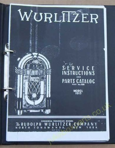 Wurlitzer 1015 Service Manual & Parts Catalog (USM60)