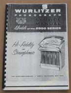 Wurlitzer 2500 Series Service & Parts Manual (1961) (USM84)