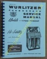 Wurlitzer 1700 & 1700HF Service & Parts Manual