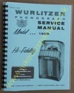 Wurlitzer 1900 Service & Parts Manual