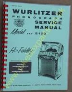 Wurlitzer 2100 Service & Parts Manual