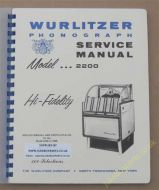 Wurlitzer 2200 Service & Parts Manual (1958)
