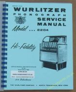 Wurlitzer 2204 Service & Parts Manual (1958)