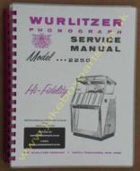 Wurlitzer 2250 Service & Parts Manual (1958)