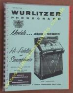 Wurlitzer 2400 Service & Parts Manual (1960)