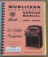 Wurlitzer 2500 Series Service & Parts Manual (1961)