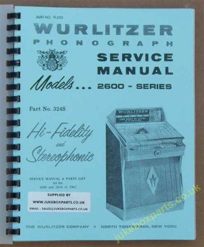 Wurlitzer 2600, 2610 Series Service & Parts Manual (1962)